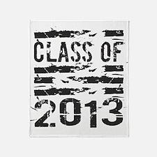 Grunge Class of 2013 Throw Blanket