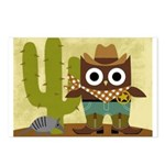 cowboy owl Postcards (Package of 8)