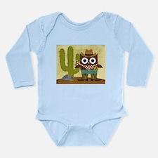 cowboy owl Long Sleeve Infant Bodysuit