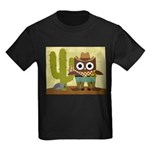 cowboy owl Kids Dark T-Shirt