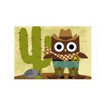 cowboy owl 35x21 Wall Decal