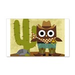 cowboy owl 20x12 Wall Decal