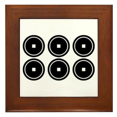 Six coins for the Abe family Framed Tile