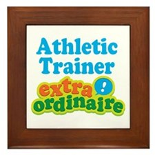 Athletic Trainer Extraordinaire Framed Tile