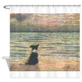 Border collie Shower Curtains