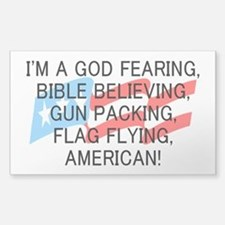 God Fearing American Decal