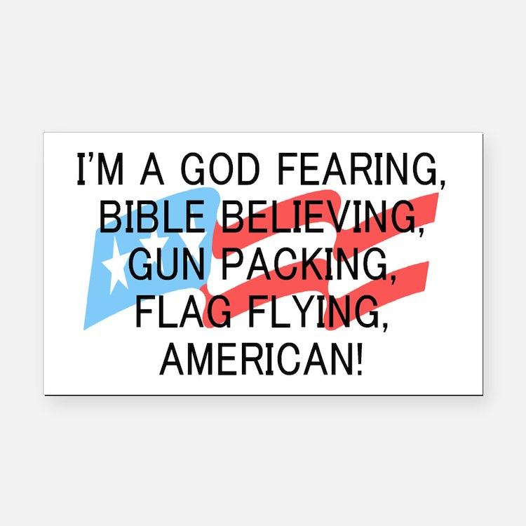God Fearing American Rectangle Car Magnet