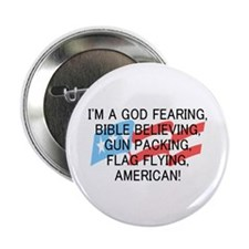 "God Fearing American 2.25"" Button"