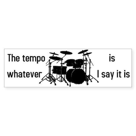 The tempo is Sticker (Bumper)