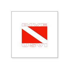 Dive U.S.V.I. Rectangle Sticker