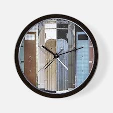 Island Doors Wall Clock