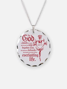 John 3:16 Necklace Circle Charm