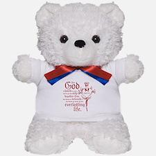 Bible Verse John 3:16 Teddy Bear