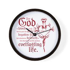 Bible Verse John 3:16 Wall Clock