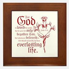 Bible Verse John 3:16 Framed Tile