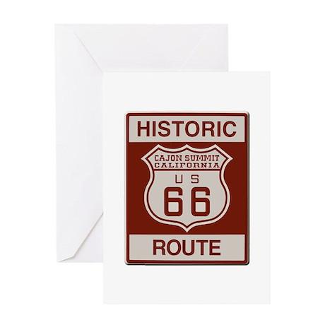 Cajon Summit Route 66 Greeting Card