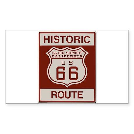 Cajon Summit Route 66 Sticker (Rectangle)