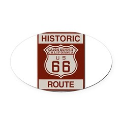 Cajon Summit Route 66 Oval Car Magnet
