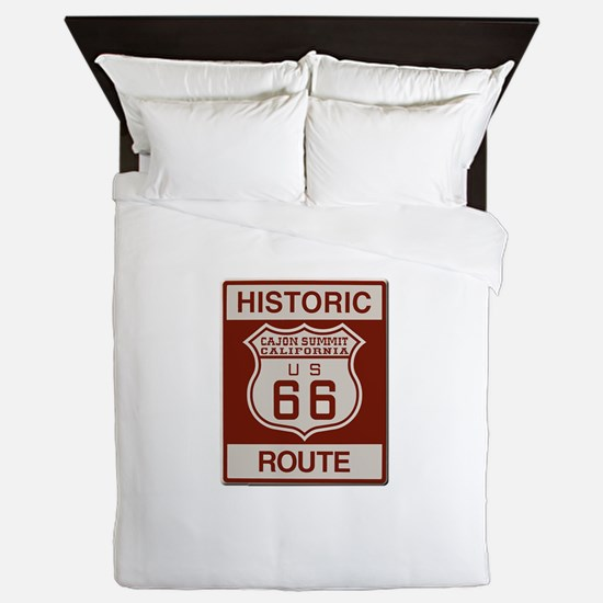 Cajon Summit Route 66 Queen Duvet