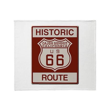 Cajon Summit Route 66 Throw Blanket
