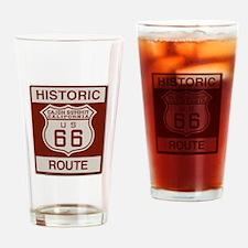 Cajon Summit Route 66 Drinking Glass