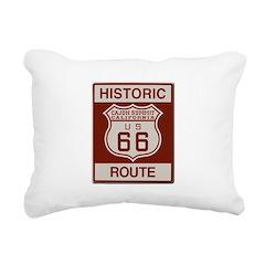 Cajon Summit Route 66 Rectangular Canvas Pillow