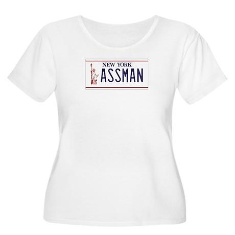 ASSMAN Women's Plus Size Scoop Neck T-Shirt