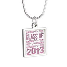 PINK Class of 2013 Silver Square Necklace