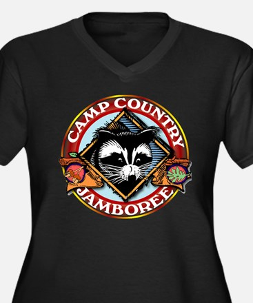 Camp Country PNG Logo Women's Plus Size V-Neck Dar