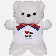 """""""I Love My Hand"""" Teddy Bear"""