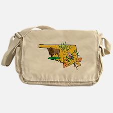 Oklahoma Map Messenger Bag