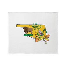 Oklahoma Map Throw Blanket