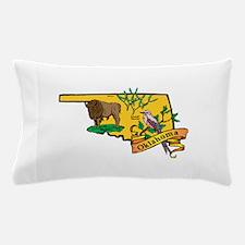 Oklahoma Map Pillow Case
