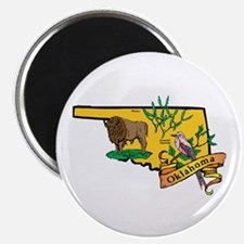 """Oklahoma Map 2.25"""" Magnet (100 pack)"""