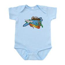 North Carolina Map Infant Bodysuit