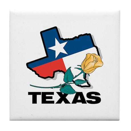 Texas Map Tile Coaster