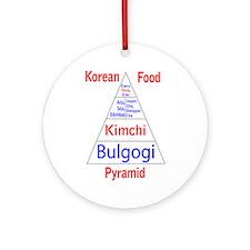 Korean Food Pyramid Ornament (Round)