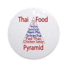 Thai Food Pyramid Ornament (Round)