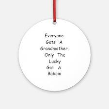 Babcia Ornament (Round)