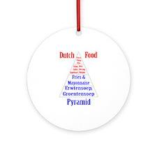 Dutch Food Pyramid Ornament (Round)