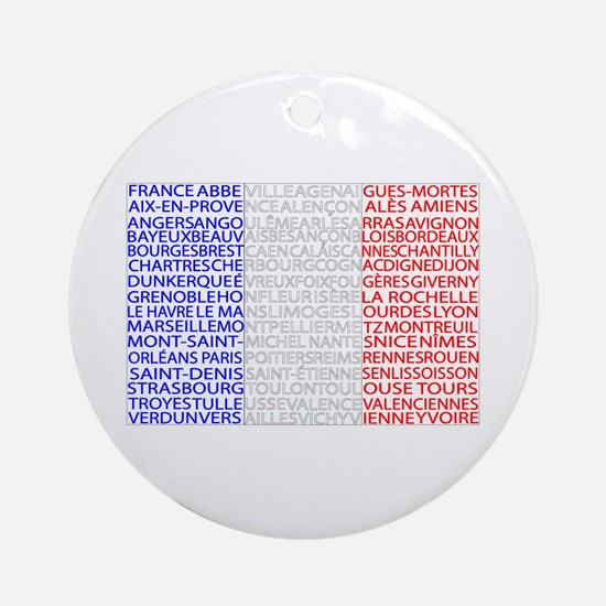 French Cities Flag Ornament (Round)
