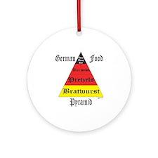 German Food Pyramid Ornament (Round)
