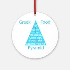 Greek Food Pyramid Ornament (Round)
