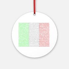 Italian Cities Flag Ornament (Round)