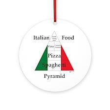 Italian Food Pyramid Ornament (Round)