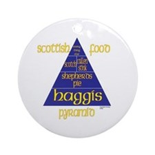 Scottish Food Pyramid Ornament (Round)