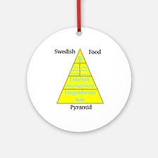 Swedish Food Pyramid Ornament (Round)