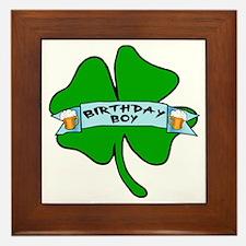 Irish Birthday Boy with Beer Framed Tile