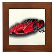Ferrari Enzo by Kiril Lykov Framed Tile