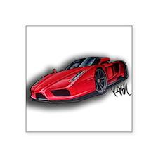 "Ferrari Enzo by Kiril Lykov Square Sticker 3"" x 3"""